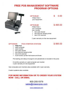 FREE RETAIL POS SOFTWARE TO HELP RUN YOUR STORE !