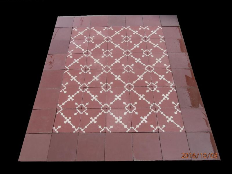 Really old spanish patterned floor tiles