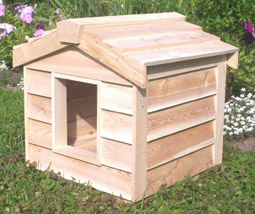 Insulated Outdoor Cedar Cat House by CozyCatFurniture.com