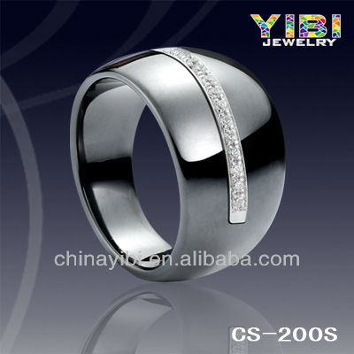 Ring Infinite Symbol Money,13mm Black Ceramic Silver Jewels