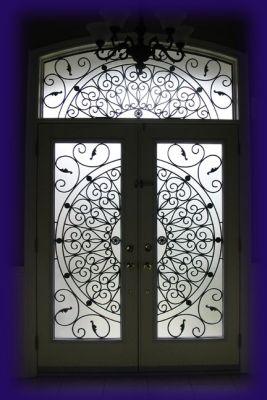 Wrought Iron Amp Decorative Glass Door Inserts