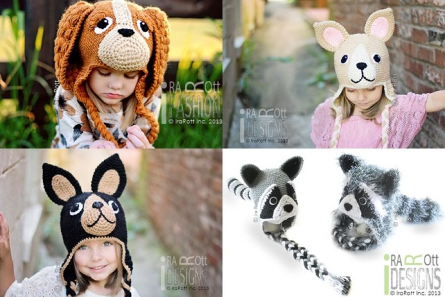 Handmade Crochet Animal Hats, Alien Monster Hats & Crochet Patterns