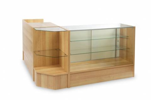 Cash Wrap Register Stand Glass Display Showcases