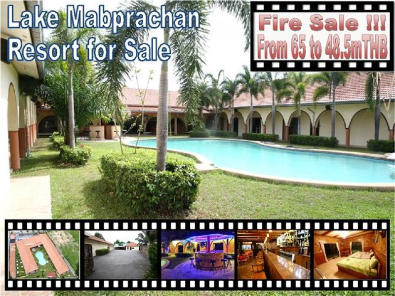 Pattaya Lake Mabprachan Resort Fire Sale
