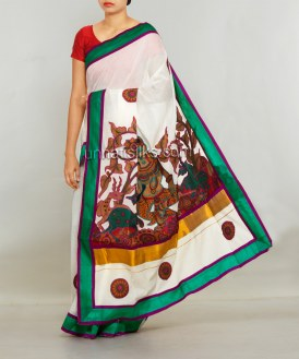 Online shopping for kerala kasavu cotton saris by unnatisilks