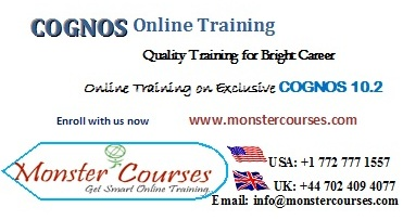 COGNOS Online Training by experts @ Monstercourses