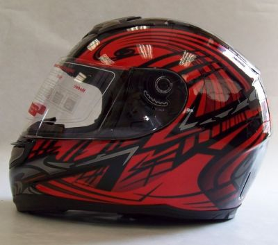 *NEW Streetz Full Face Devil Red Helmet - Pump Inflation System