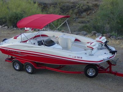 2007 Tahoe 215 Fish and Ski Deck Boat V8 w/ Trailer