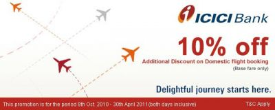Patel Tourism - ICICI Bank Offer Flat 10% off