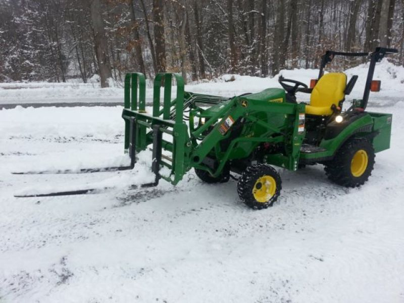 John Deere Tractor Lift Problems : John deere r loader forks mower