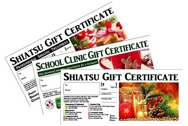 Shiatsu Gift Certificates for Christmas?