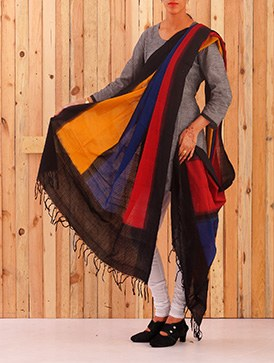 Online shopping for pochampally cotton chunni by unnatisilks