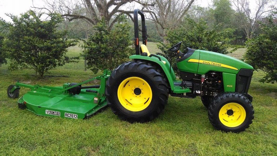 2013 John Deere 4105 4wd Tractor W Mower