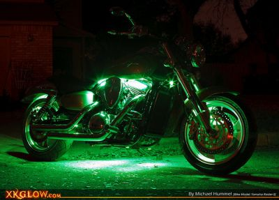 Motorcycle LED Underglow Wireless 8 Strip Kit Multicolor / Solid