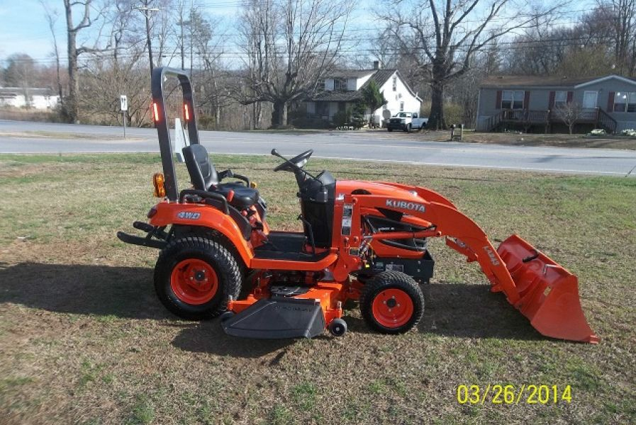 Kubota Belly Mower Decks : Kubota bx tractor loader belly mower