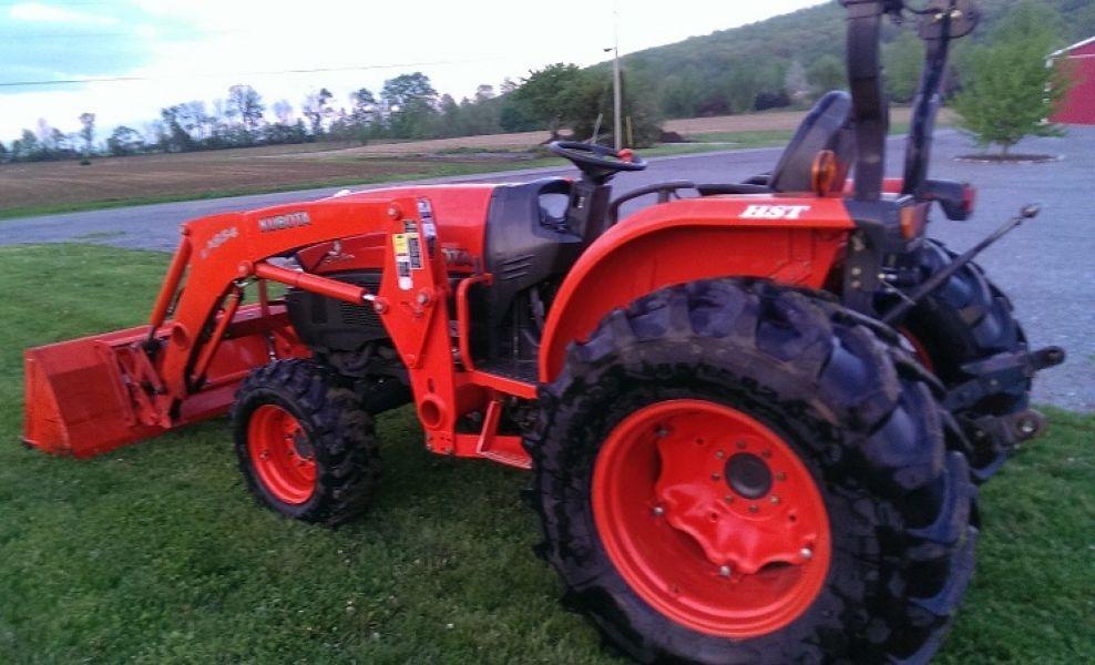 Kubota Front Blade : Kubota l tractor loader blade wd
