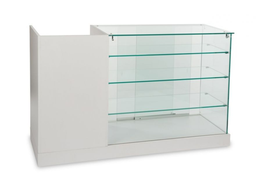 Glass Display Showcase Cabinet-Wholesale Cash Counter-Register Wrap Stand