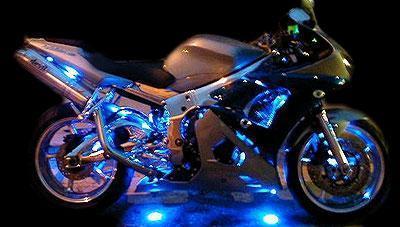 Motorcycle Led Underglow Wireless 8 Strip Kit Multicolor
