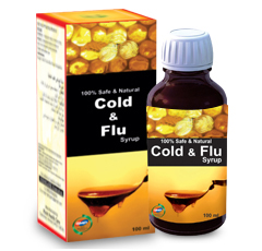 Cold & Flu syrup is a typical balance mixture of selected herbs to fight against the flu generated i