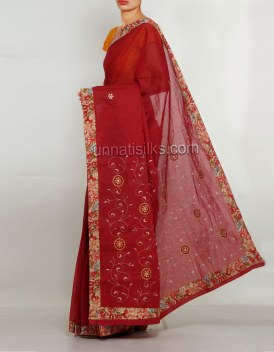 Online shopping for pure malmal cotton saris by unnatisilks