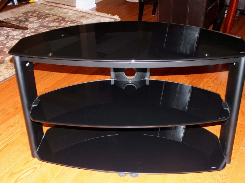 Smoked Glass 3 Shelf TV stand