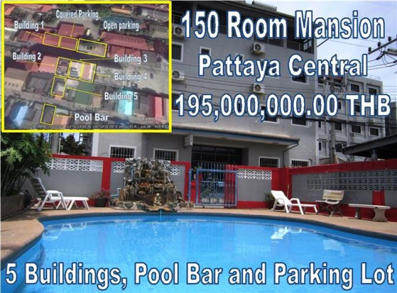 Pattaya Central 150 Room Mansion for Sale