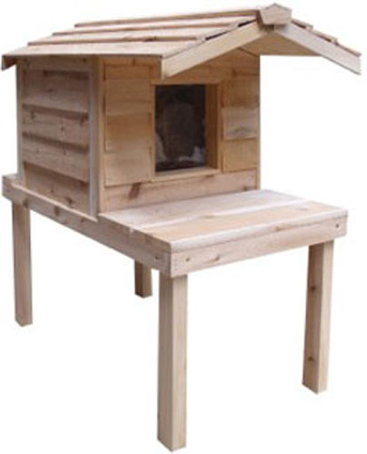 Cedar House for Outside Cats by Cozycatfurniture.com