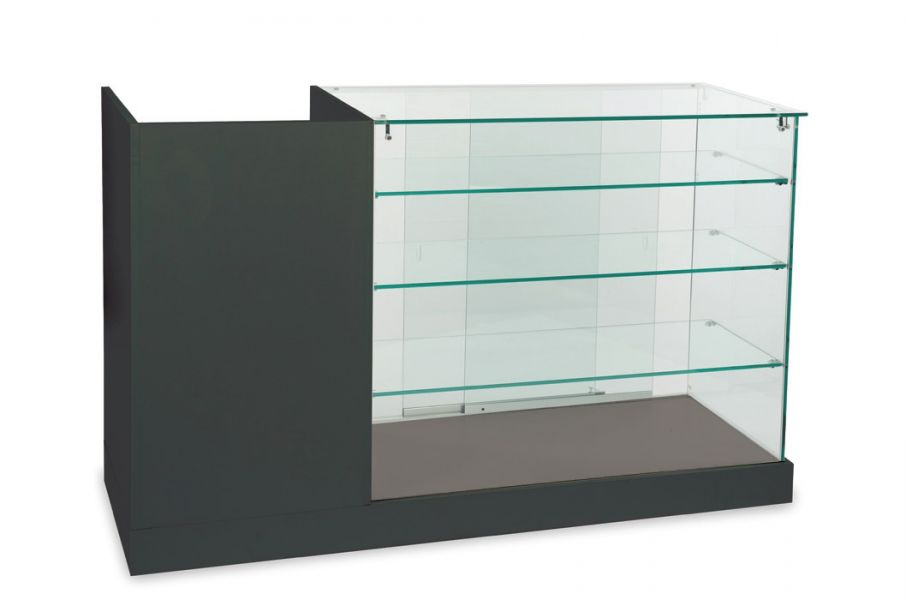 Glass display showcase cabinet wholesale cash counter for Meuble comptoir caisse