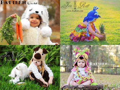 Crochet Animal hats, Alien Monster Hats, Photo Props and Crochet Patterns