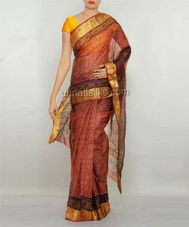 Online shopping for pure kota silk saris by unnatisilks