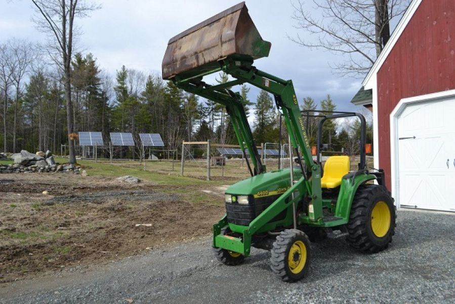 2002 John Deere 4400 Tractor Loader Backhoe Blade 4x4