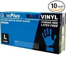 Shop for Ammex Glove Plus Powder Free Blue Vinyl Gloves