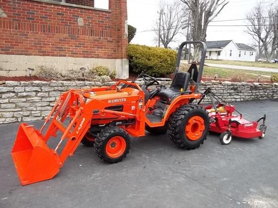 Kubota Tractor Hydraulic Blade : Kubota b loader blade bush hog wd