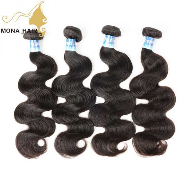 Top quality virgin brazilian hair body wave hair bundles