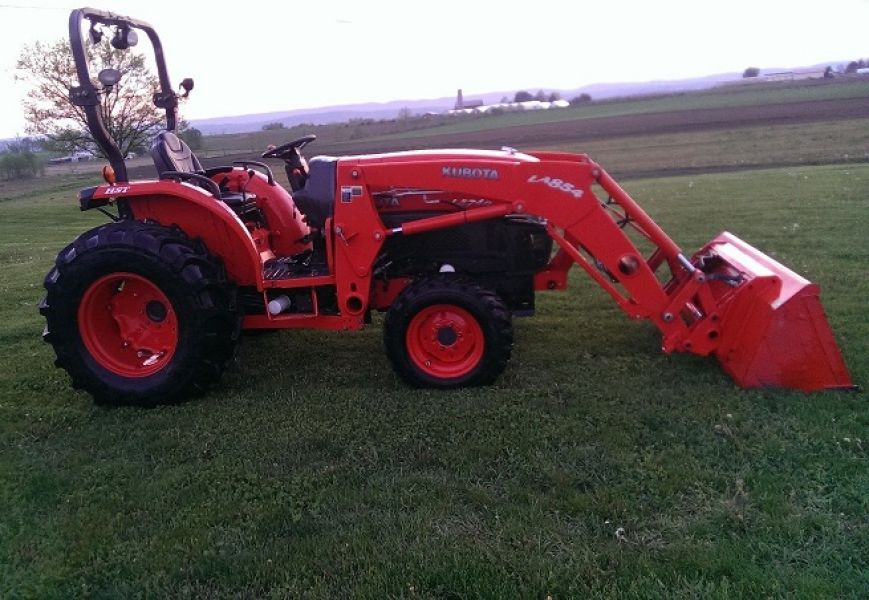 Kubota Tractor Hydraulic Blade : Kubota l tractor loader blade wd