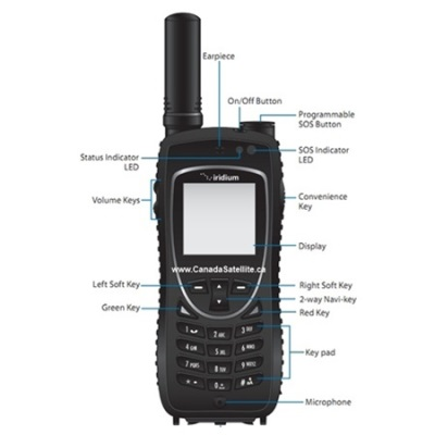 Iridium 9575 Extreme Satellite Phone Rental w/ GPS+ Free Delivery anywhere in Canada