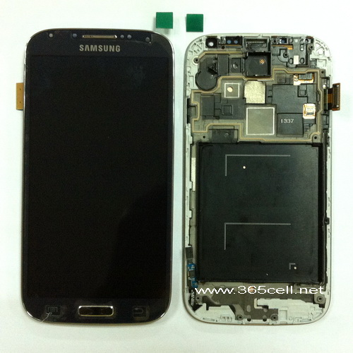 Samsung Galaxy S4 i337 LCD and digitizer assembly with frame