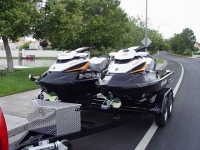 (2) 2012 Seadoo RXT 260 ONLY 6hrs w/ EZ Trailer