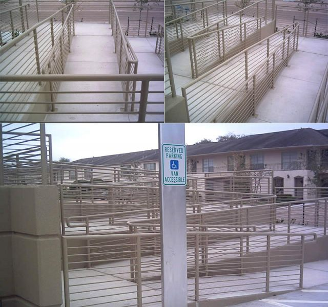Commercial wrought iron handrails hand railings deck