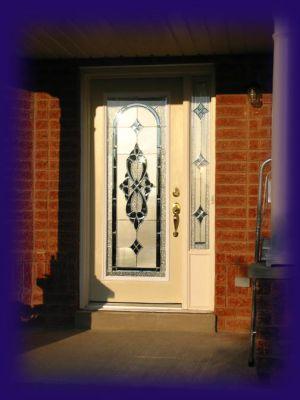 wrought iron decorative glass door inserts