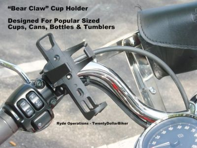 Universal Motorcycle Cup Holders - FIts Coffee, Soda Can, Bottle