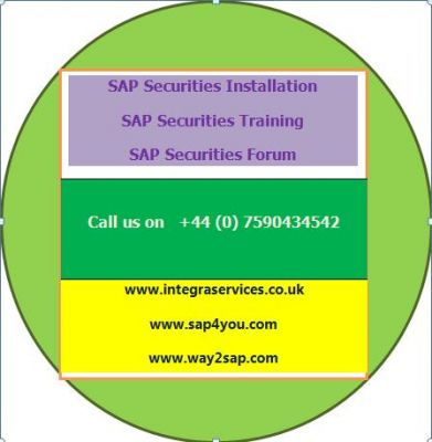 SAP Securities Installation and Training