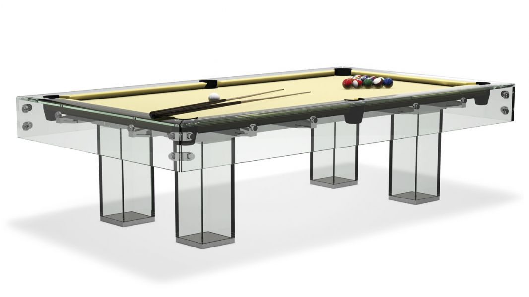 Sensational Billiards tempered glass house design innovation in an impressive